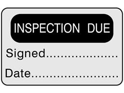 Inspection due label