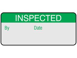 Inspected aluminium foil labels.
