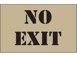 No exit heavy duty stencil