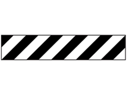 Black and white striped flagging tape