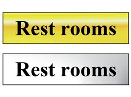 Rest rooms metal doorplate