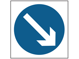 Keep right temporary road sign.
