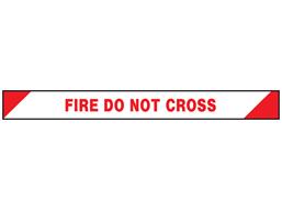 Fire do not cross barrier tape