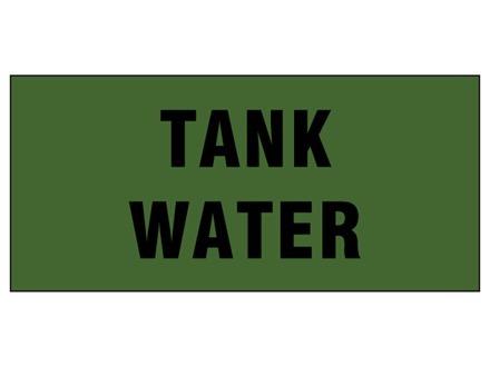 Tank water pipeline identification tape.