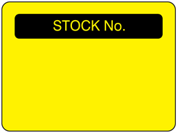 Stock number fluorescent label