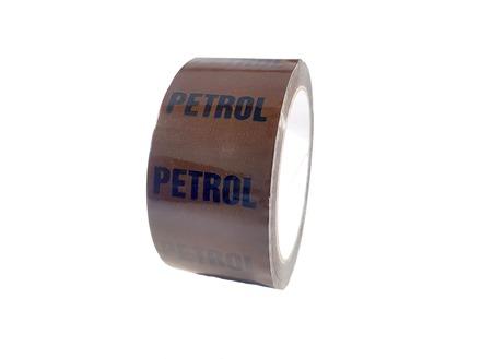 Petrol pipeline identification tape.
