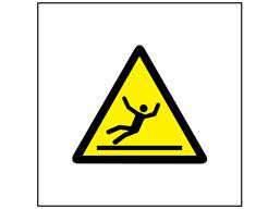 Risk of slipping symbol safety sign.
