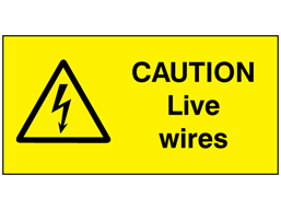 Caution Live Wires Label Wsl2040 Label Source