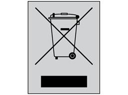 RoHS WEEE disposal symbol (5000) label
