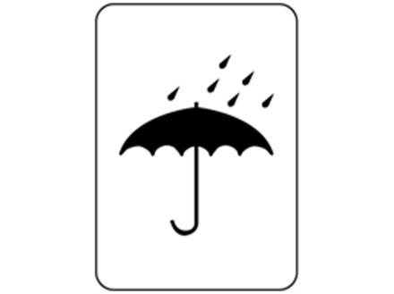 Keep dry packaging symbol label
