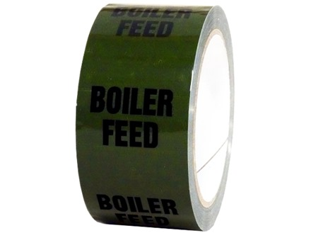 Boiler feed pipeline identification tape.