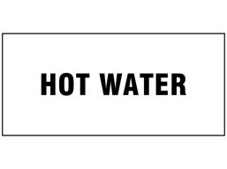 Hot water pipeline identification label