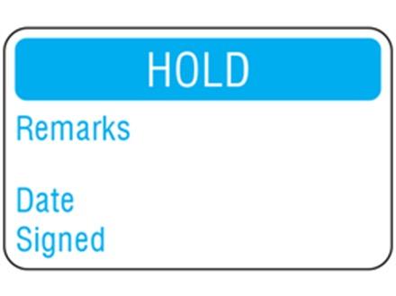 Hold Quality Assurance Label Zl1050 Label Source