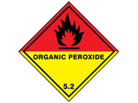 Organic peroxide, class 5.2, hazard diamond label