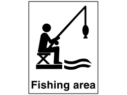 Fishing area sign.