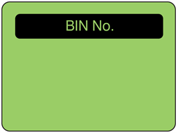 Bin number fluorescent label