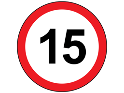 15mph speed limit sign