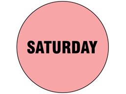 Saturday inventory date label