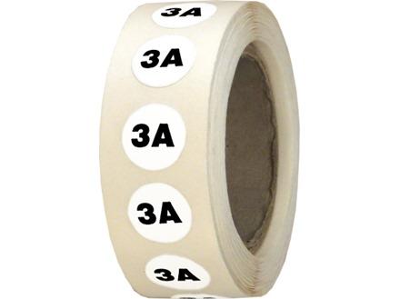 3 amp label