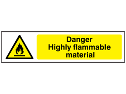 Danger Highly flammable material, mini safety sign.