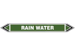 Rain water flow marker label.