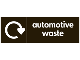 Automotive waste WRAP recycling signs