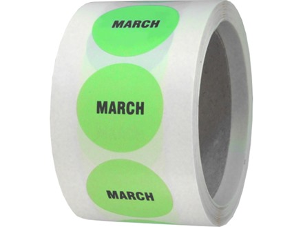 March inventory date label