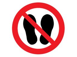 Do not step on symbol label