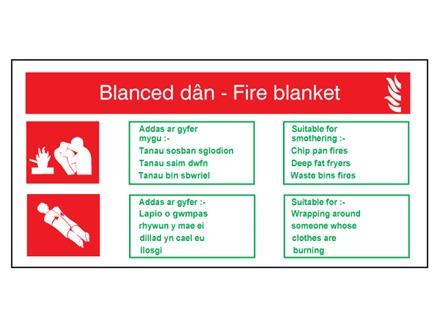 Blanced dân / Fire blanket fire equipment safety sign.