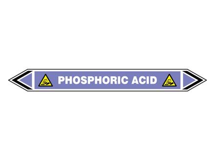 Phosphoric acid flow marker label.