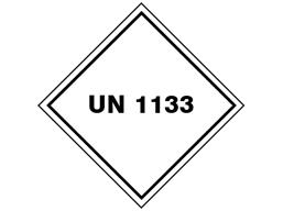 UN 1133 (Plastic primer and cleaner) label.