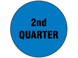 Second quarter inventory date label
