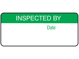 Inspected by equipment label.