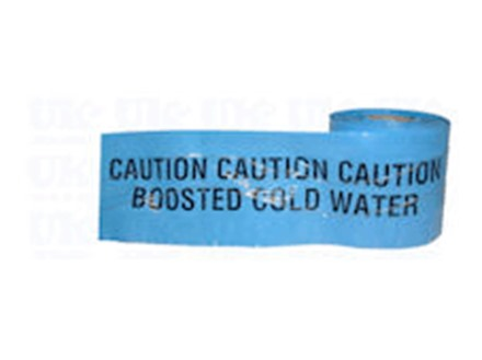 Caution boosted cold water tape.
