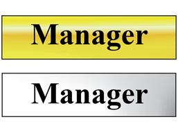 Manager metal doorplate