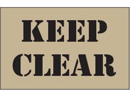 Keep clear heavy duty stencil