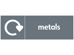Metals WRAP recycling signs