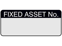 Fixed asset number aluminium foil labels.
