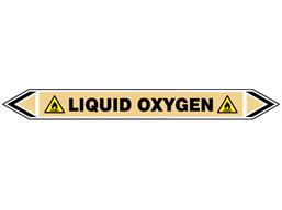 Liquid oxygen flow marker label.