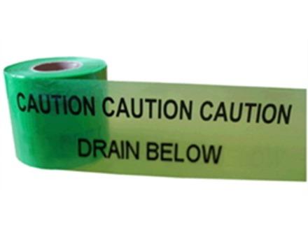 Caution drain below tape.