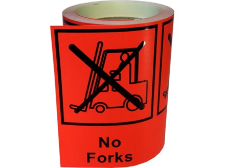 No forks shipping label.