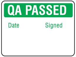 Jumbo QA Passed label - 250 pack