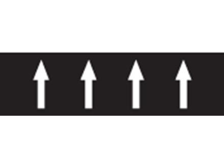 Flow indication tape for effluent