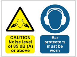 Caution Noise Level Of 85db A Or Above Ear Protectors