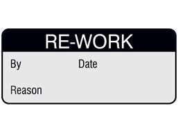 Re-work aluminium foil labels.