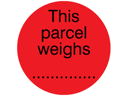 This parcel weighs.... packaging label