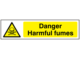 Danger Harmful fumes, mini safety sign.