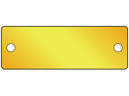 Blank brass nameplate, 26mm x 76mm