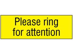 Please ring for attention, engraved sign.