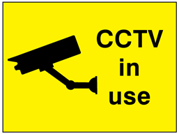 CCTV in use transport sign